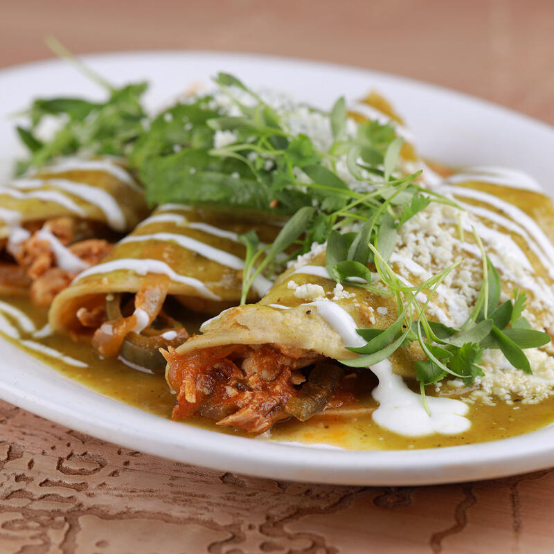 Mary's Chicken Enchiladas dish
