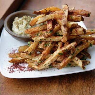 Sumac Fries with Za'atar Aioli
