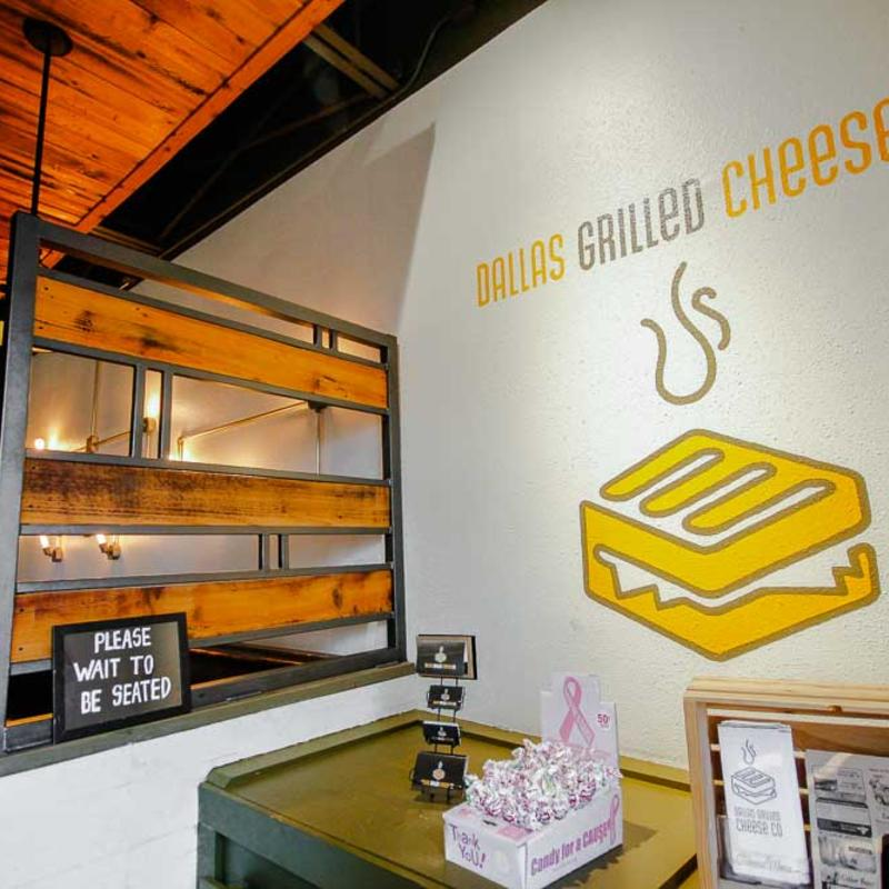 Interior Dallas grilled cheese mural