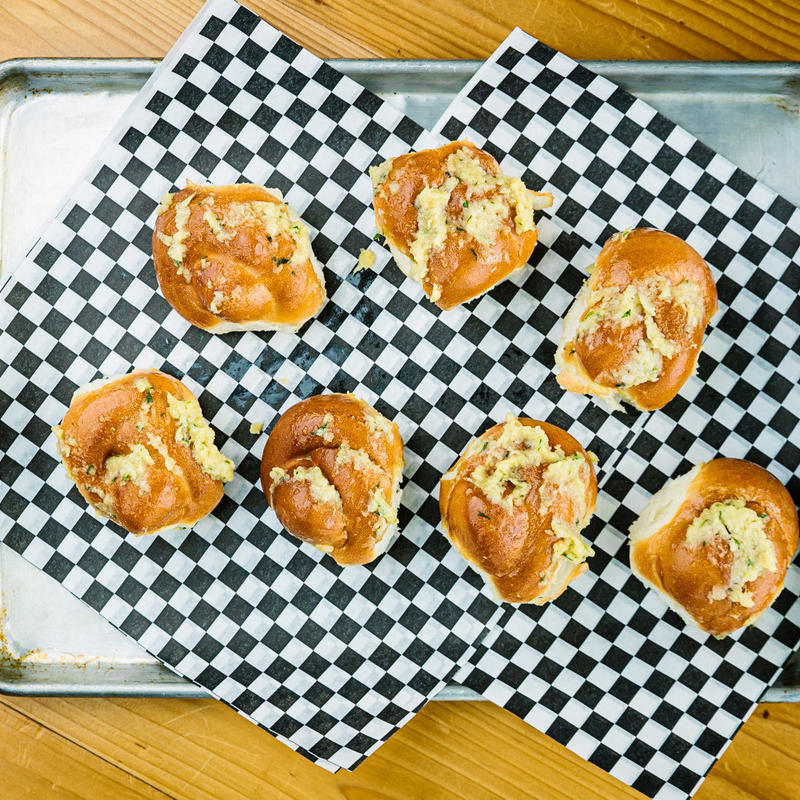 Pastries on a checkered paper, top view
