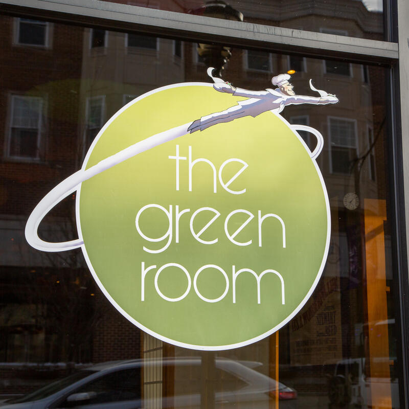 Exterior, the green room glass overlay