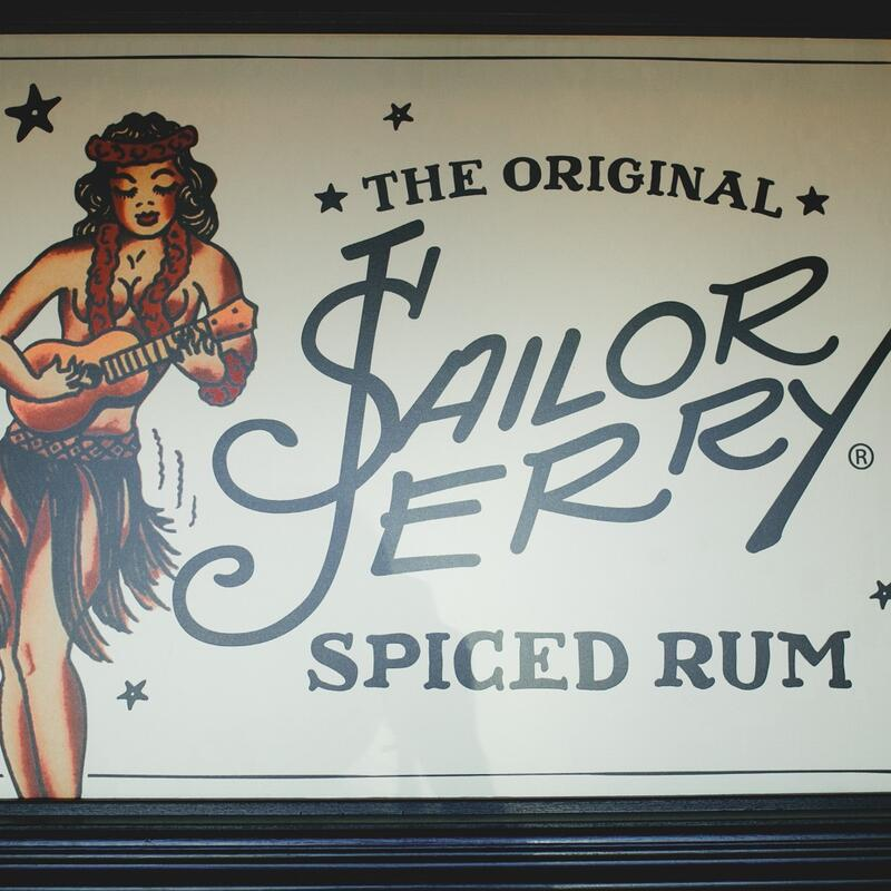 Advertisement for a spiced rum