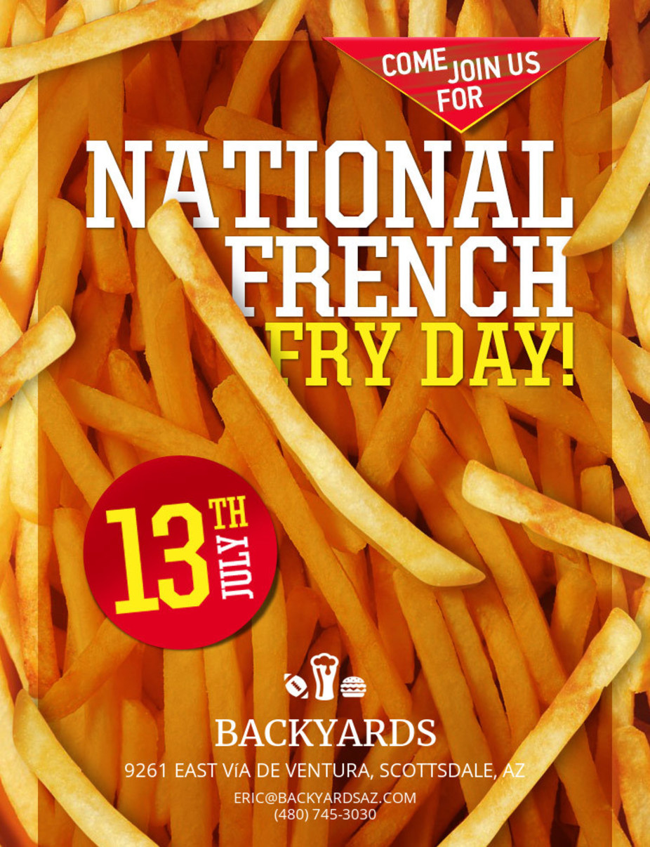 National French Fry Day Monday July 13th event photo