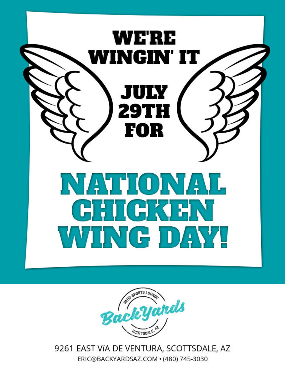 National Chicken Wing Day Wednesday July 29th event photo