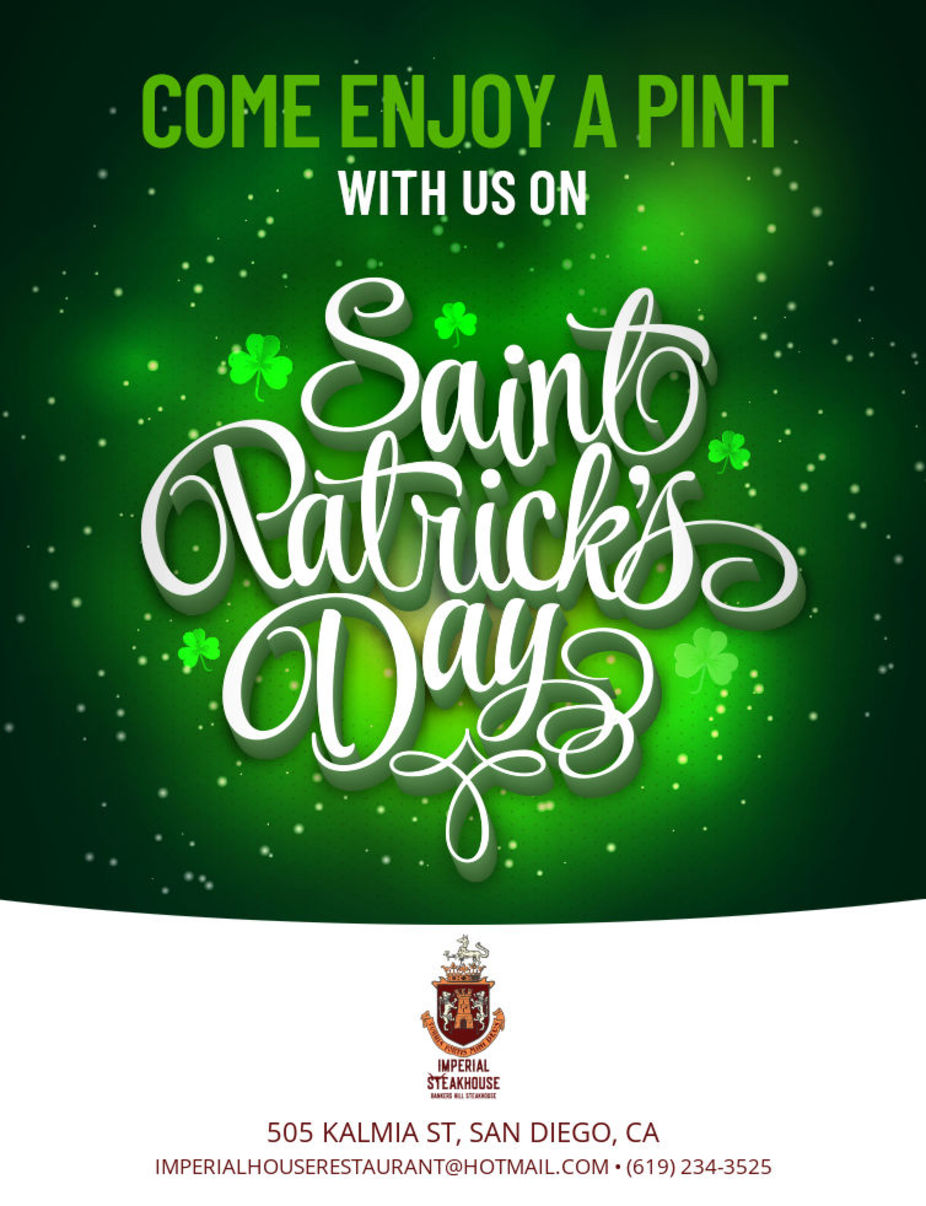 St. Patrick's Day event photo Tuesday March 17th
