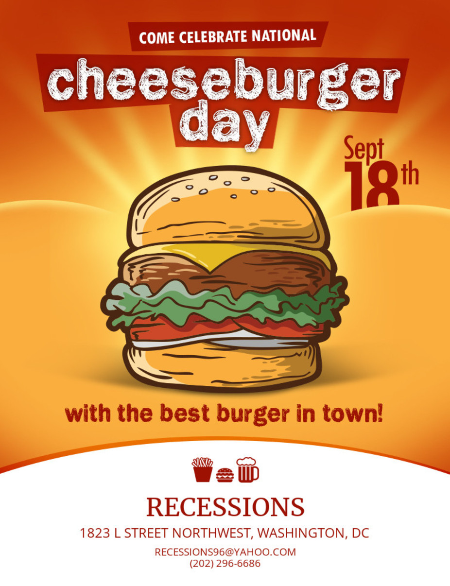National Cheeseburger Day event photo