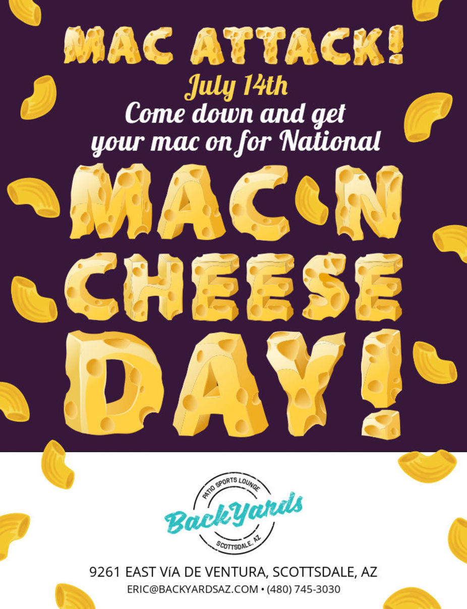 National Mac and Cheese Day Tuesday July 14th event photo