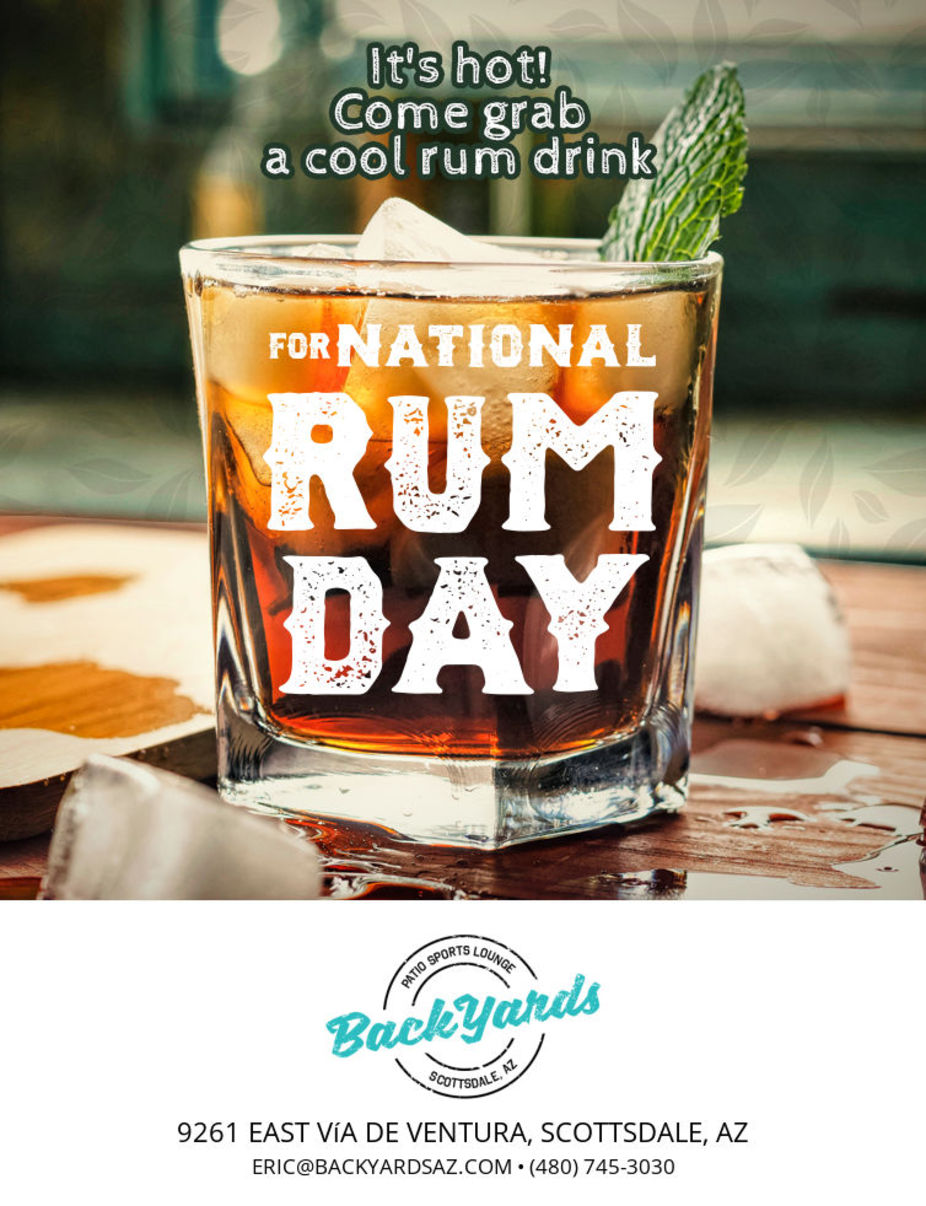 National Rum Day Sunday August 16th event photo