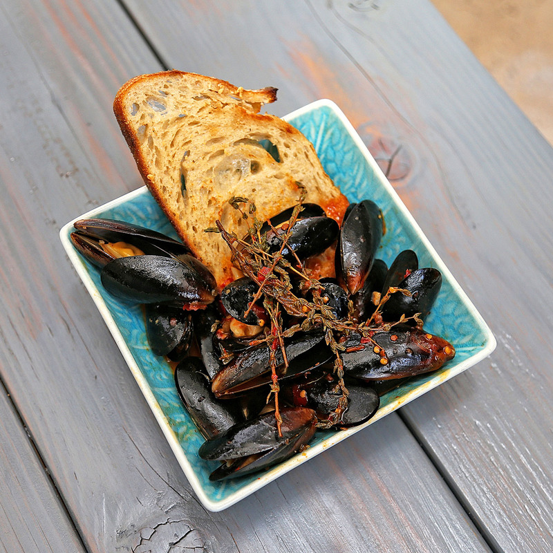 Mussels, White Wine, Garlic, Thyme, Calabrian Chili, Butter