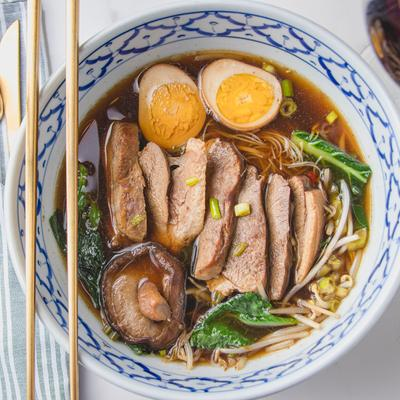 Slow Cooked Duck Breast Noodle Soup photo