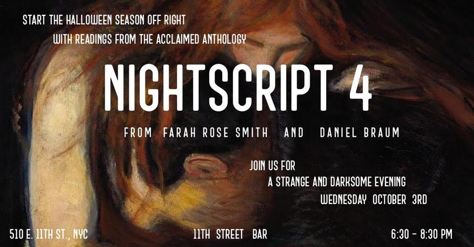Nightscript 4 Short Stories Reading event photo