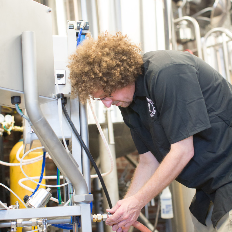 Head Brewer and owner Brad Williams