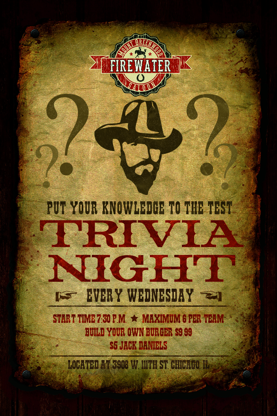 Firewater Saloon Trivia Night event photo