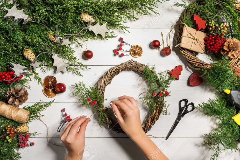 Wreath making at Julep! event photo