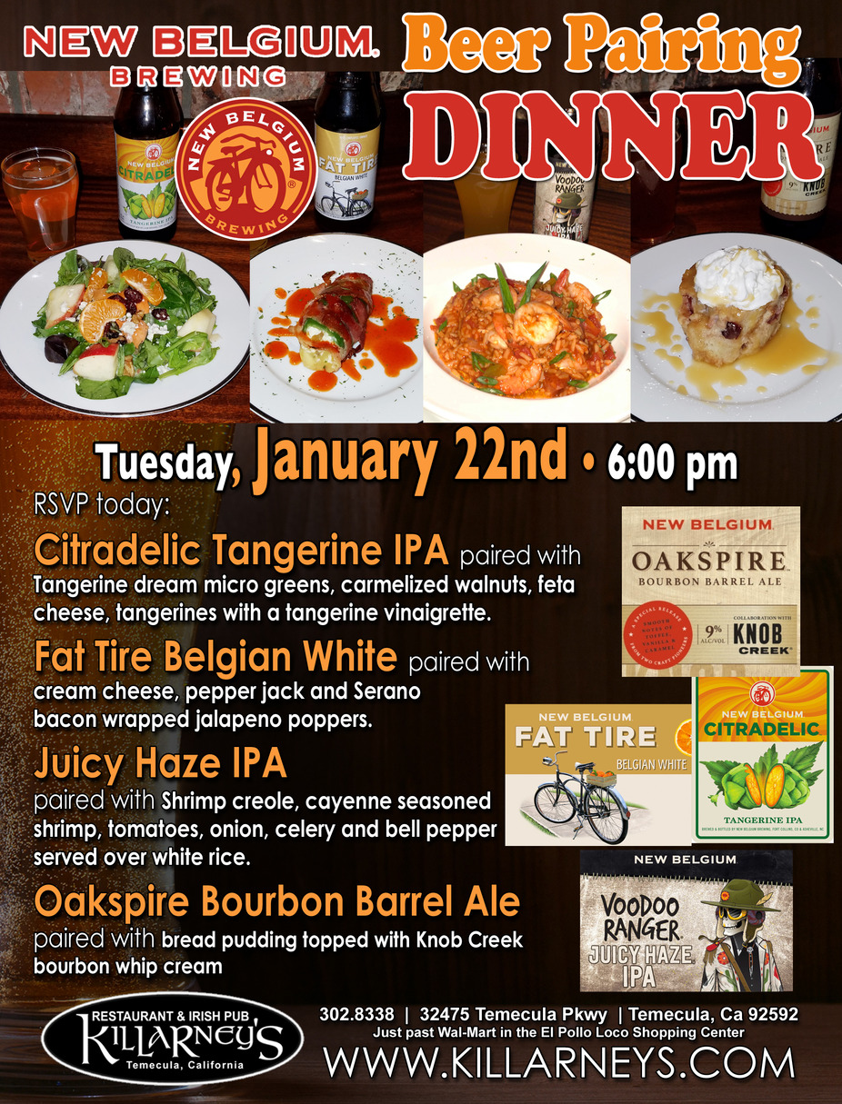 New Belgium Beer Pairing Dinner event photo