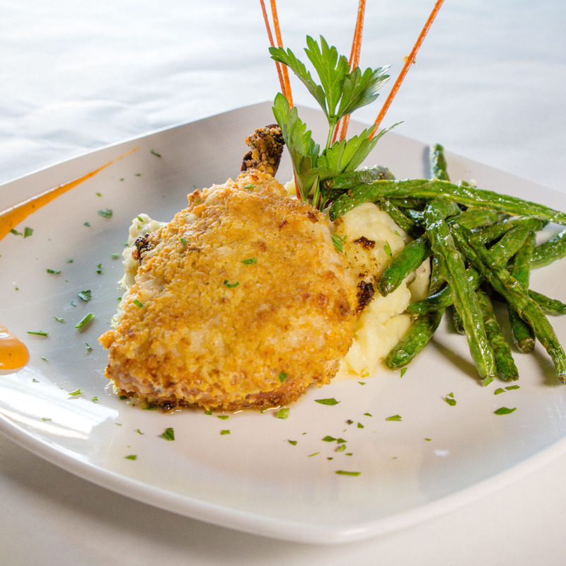 Panko crusted spicy baked pork chop