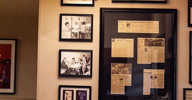 Old newspaper excerpts on the wall