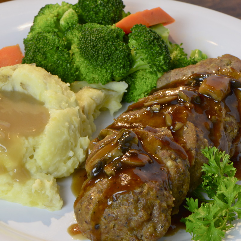Homemade meatloaf.
