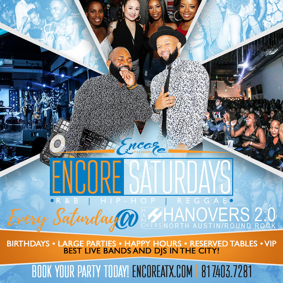 Encore Saturdays  | 9PM-2PM event photo