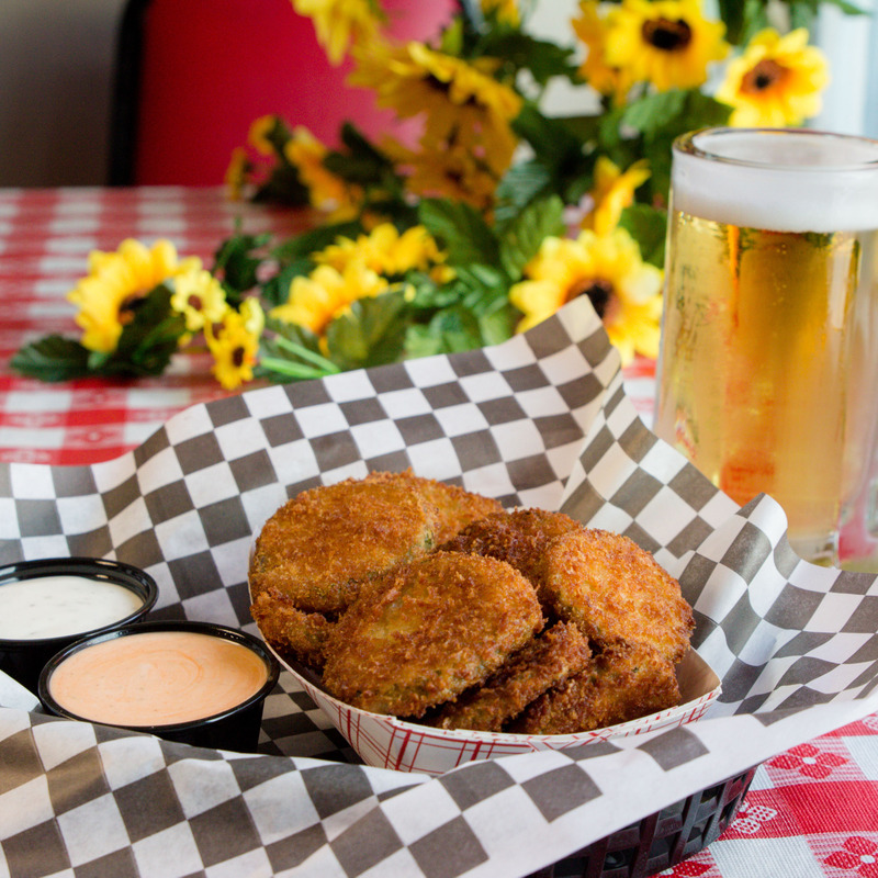 Savory fried pickles!