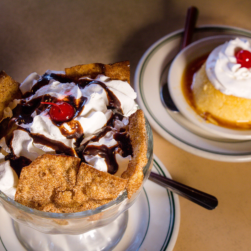 Fried Ice Cream and Flan