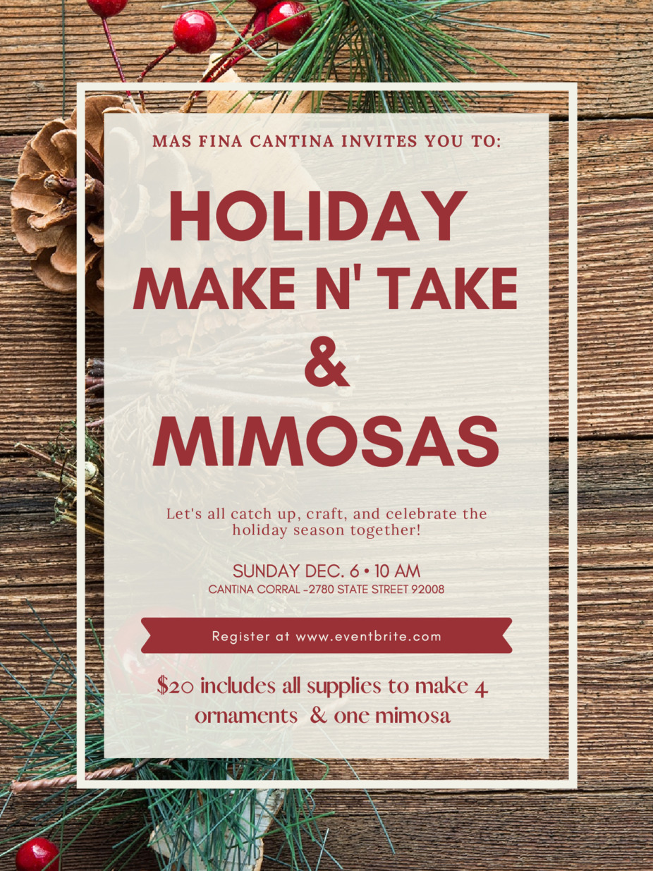 Holiday Make N' Take & Mimosas event photo