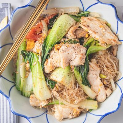 Stir Fried Glass Noodles photo