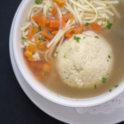 Doughball soup with noodles