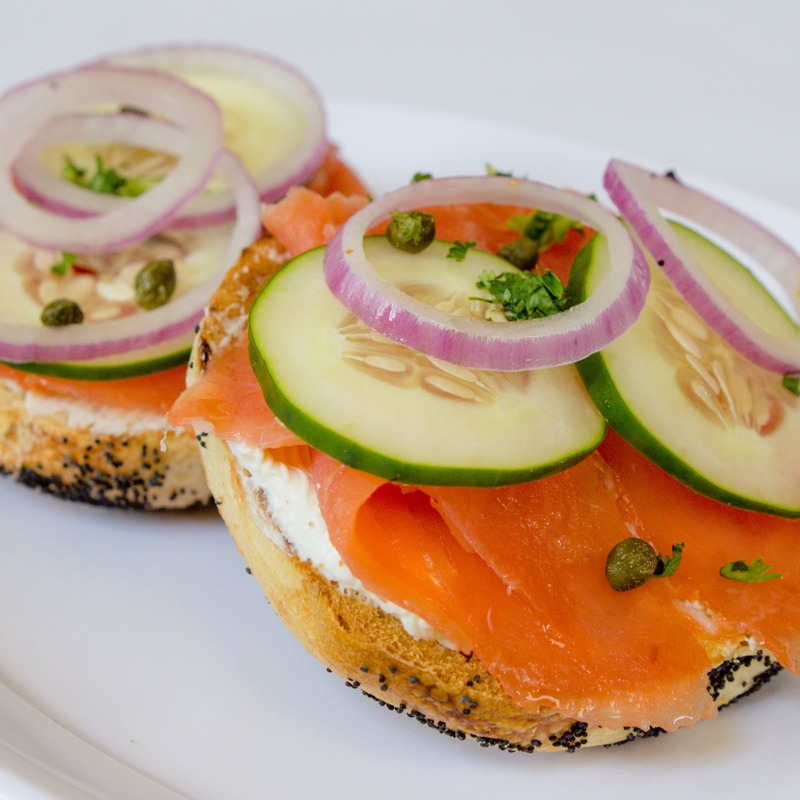 Lox Sandwich. Only the finest lox