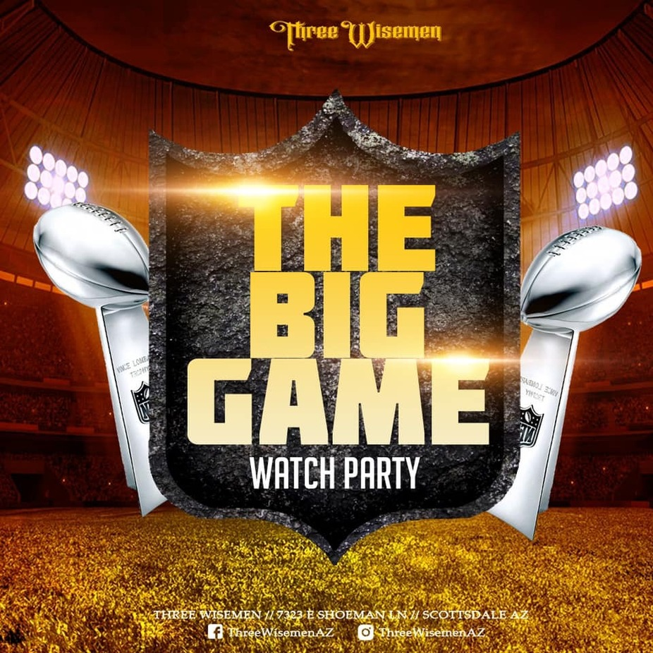 Three Wisemen The Big Game Watch Party event photo