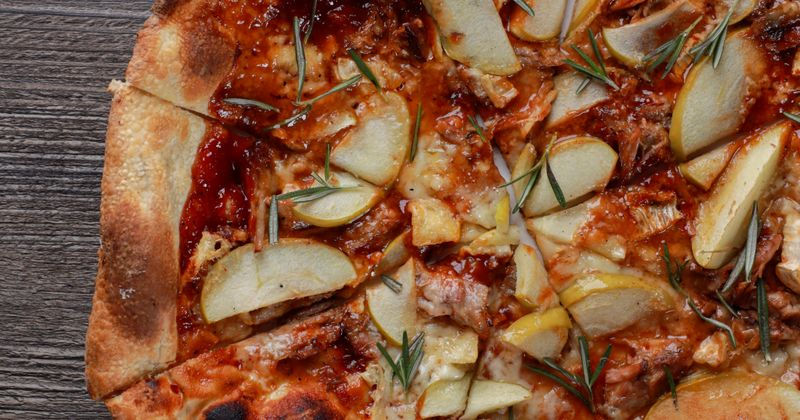 Apple, Brie and Pork Pizza