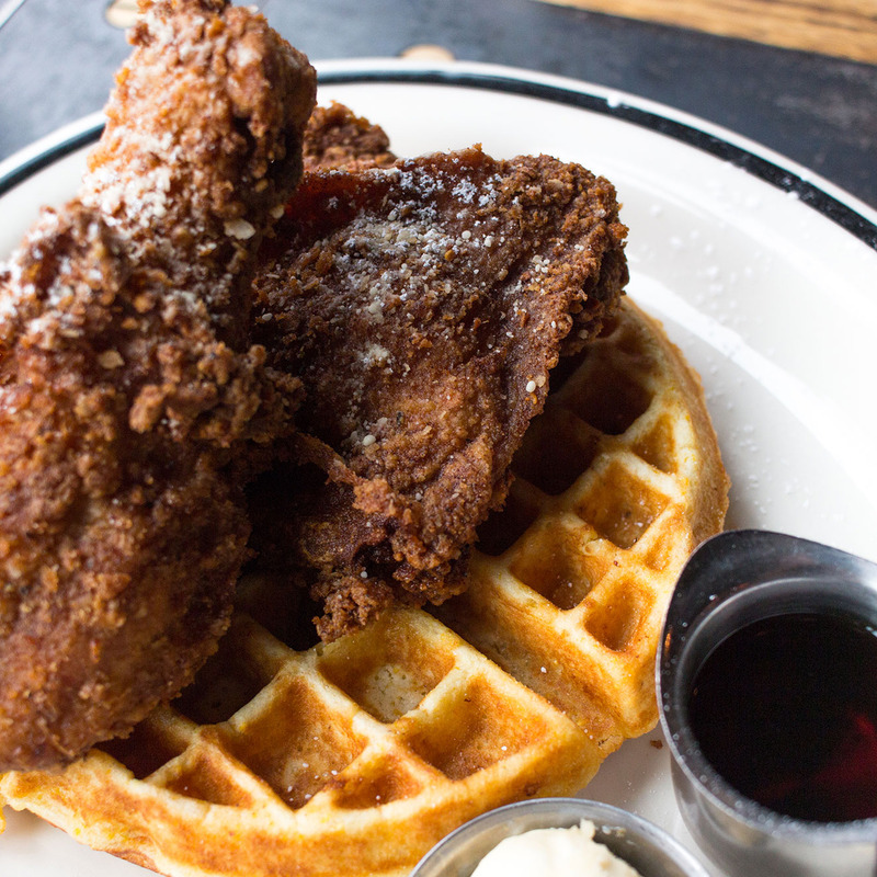 Weekend Brunch Chicken and Waffles