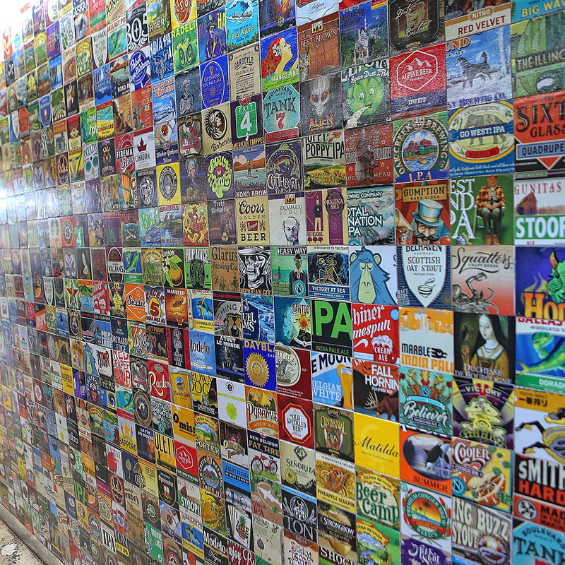 Beer lable wall