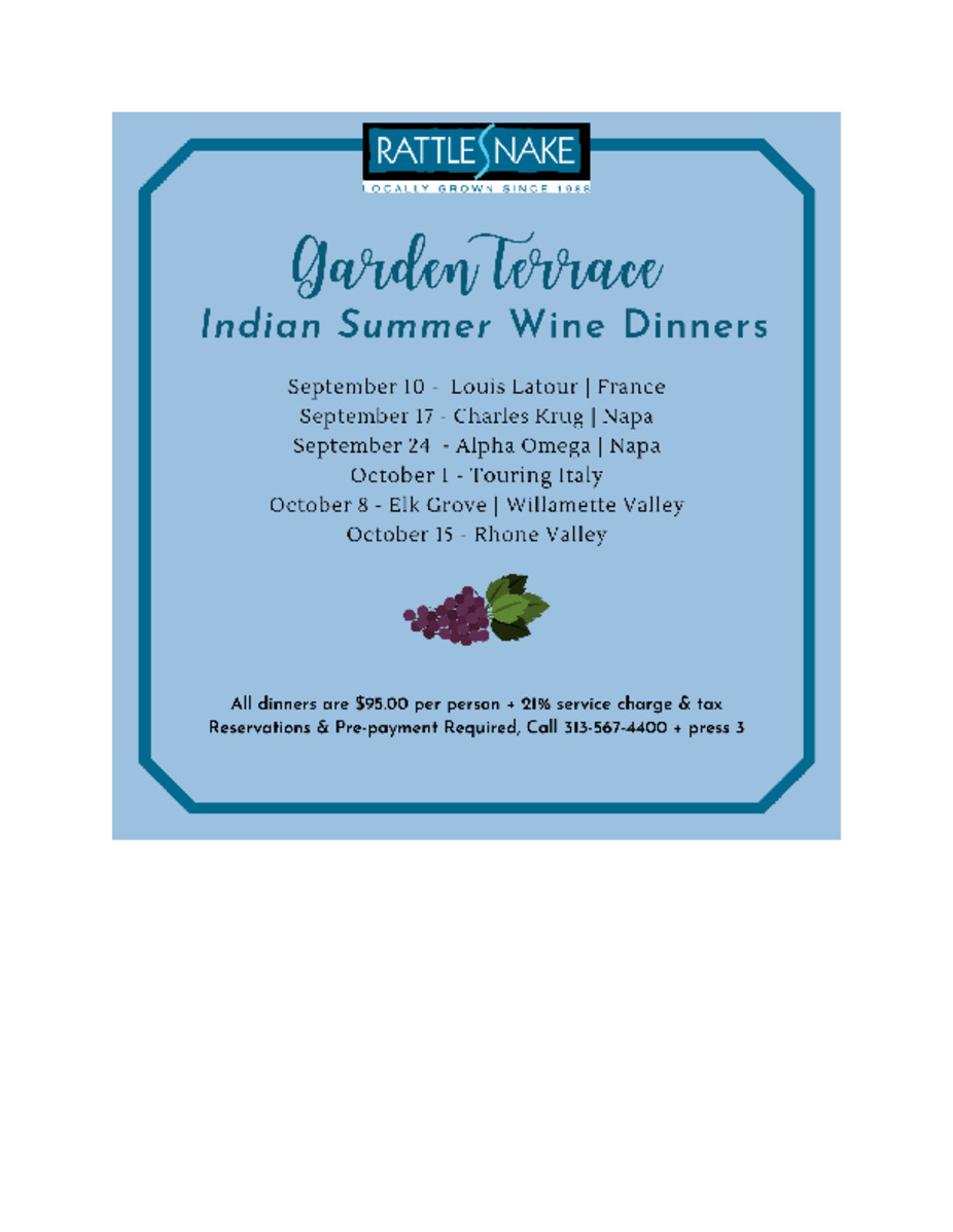 Indian Summer Wine Dinners event photo