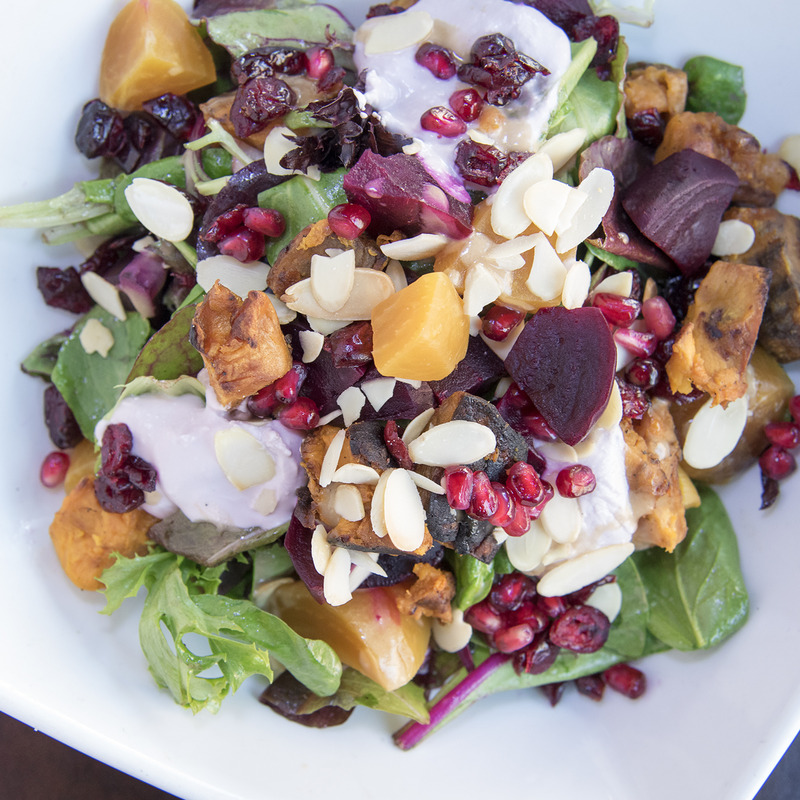 Beets bowl again with salad