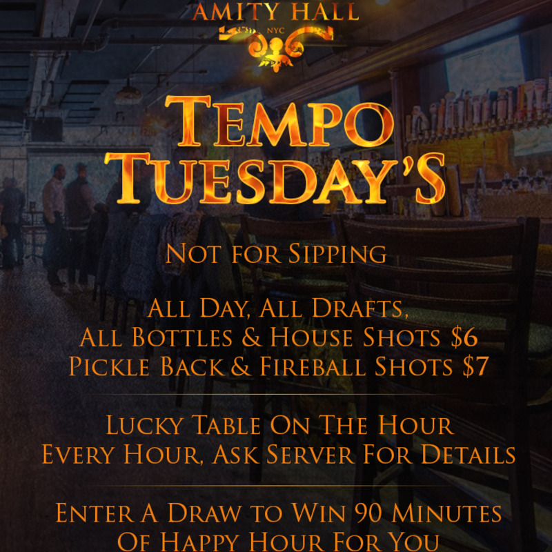 Tuesday Drink Specials all day.