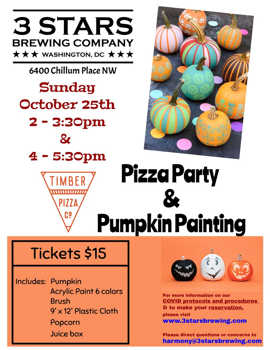 Timber Pizza Party & Pumpkin Painting event photo