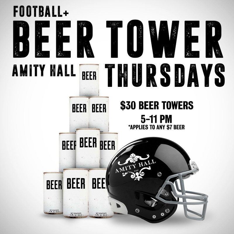 Happy Thursday! Beer Tower Specials and Football