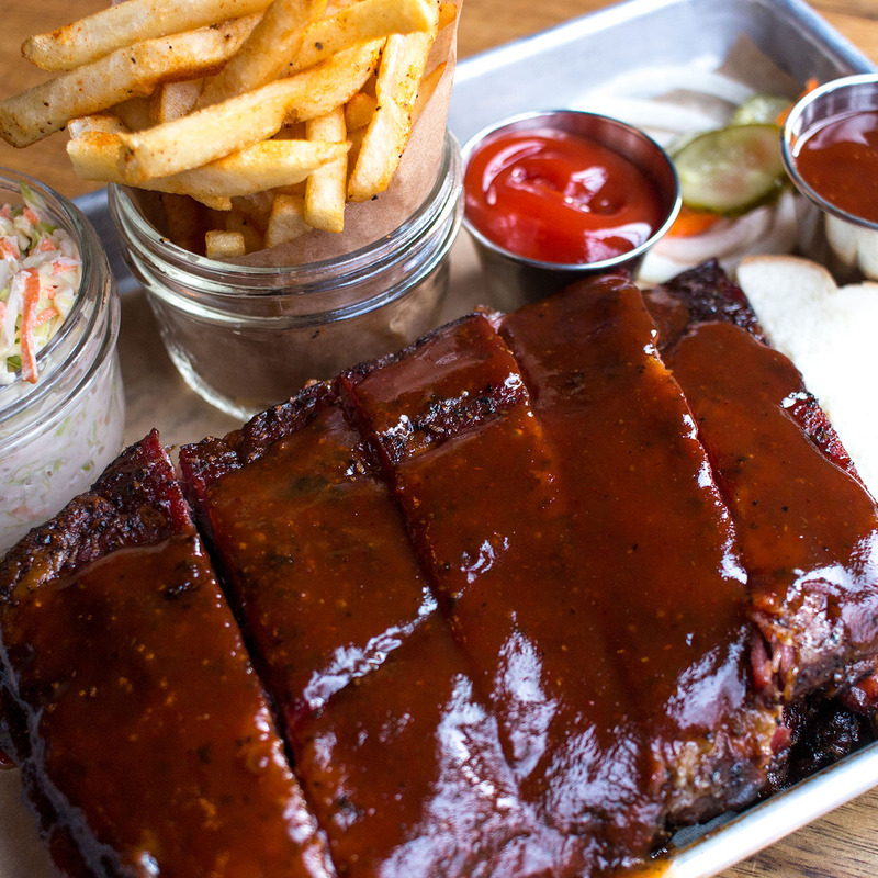 Applewood Smoked St. Louis style BBQ Ribs