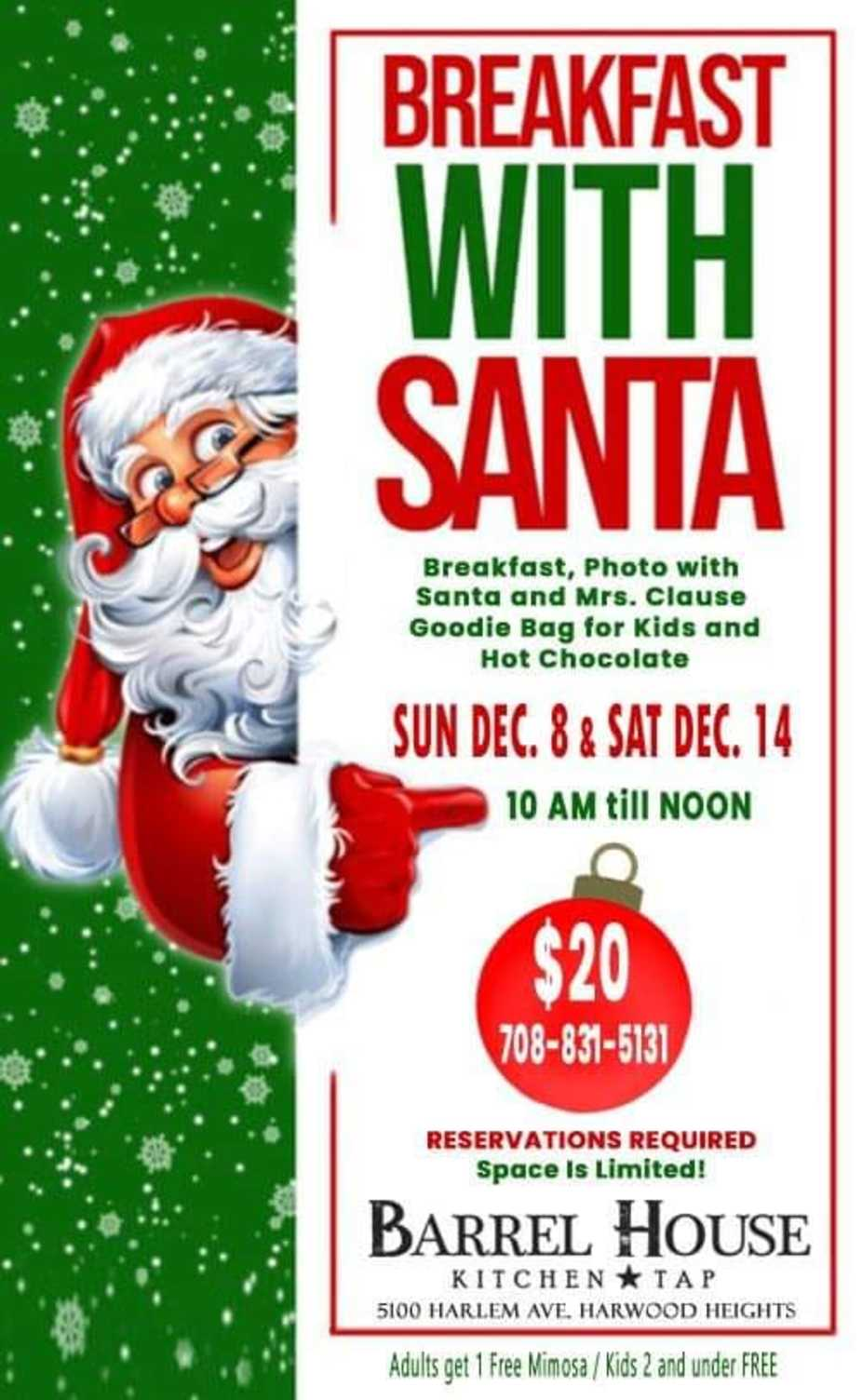 Breakfast with Santa! event photo