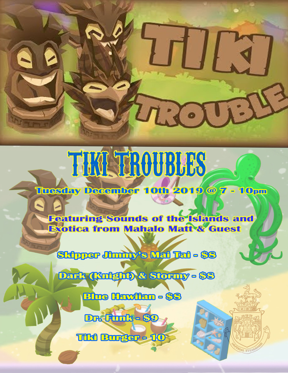 Tiki  Troubles Night event photo