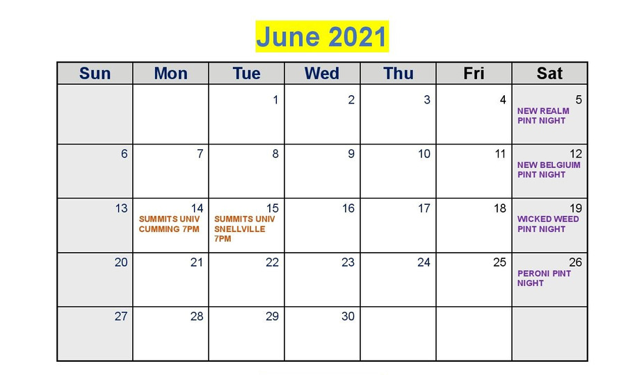 June Calendar event photo