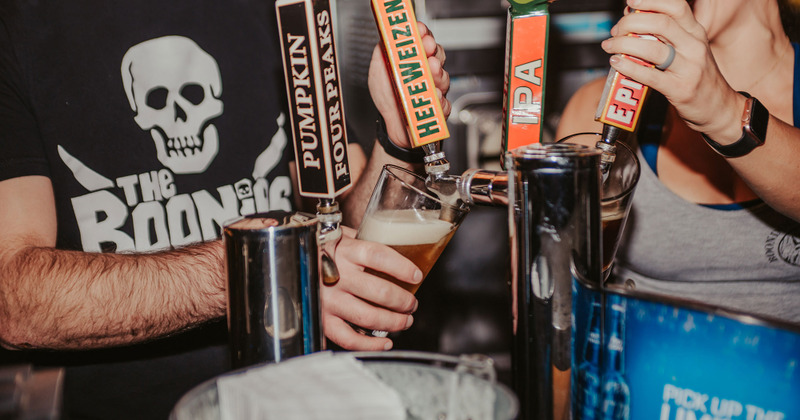 Boondocks proudly serves Local Brewery Beers on Tap
