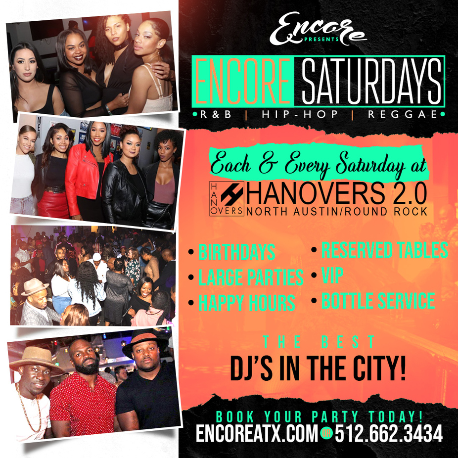 Encore Saturdays | 8.22  9pm - 230am event photo
