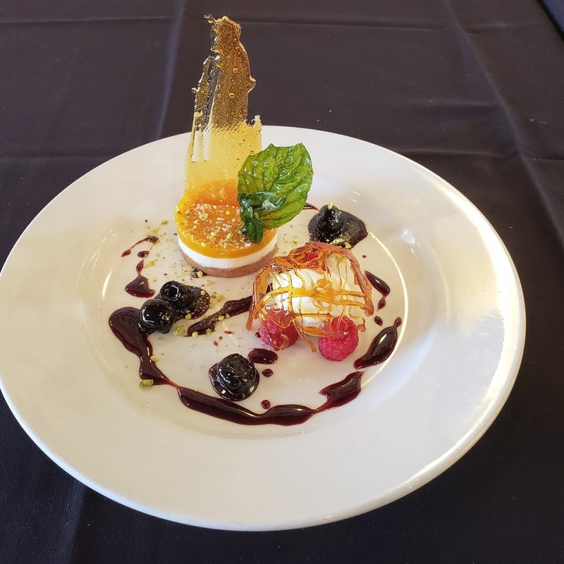 Panna Cotta | mango and passion fruit, coconut short bread, fresh berries