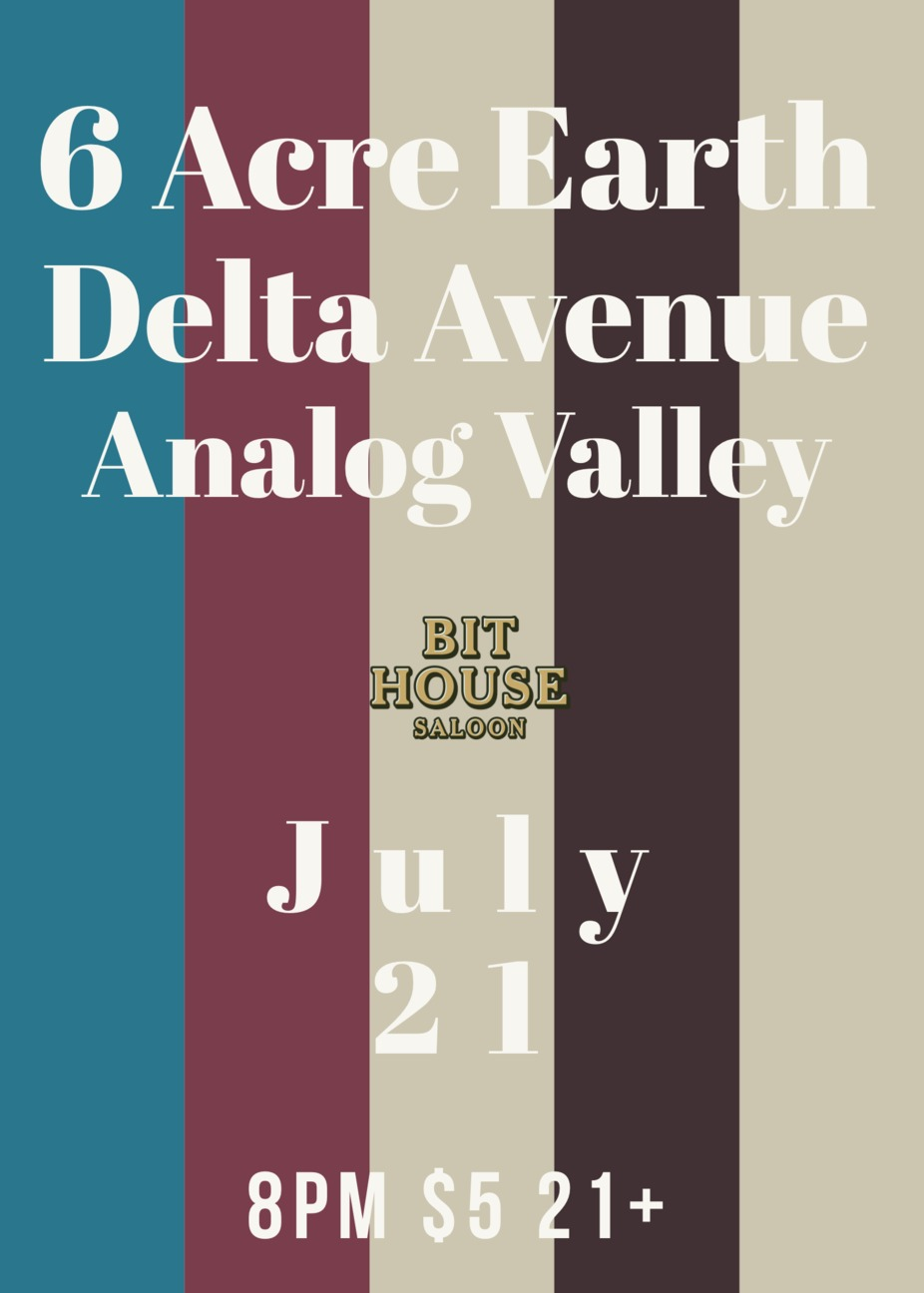 6 Acre Earth, Delta Avenue, Analog Valley event photo