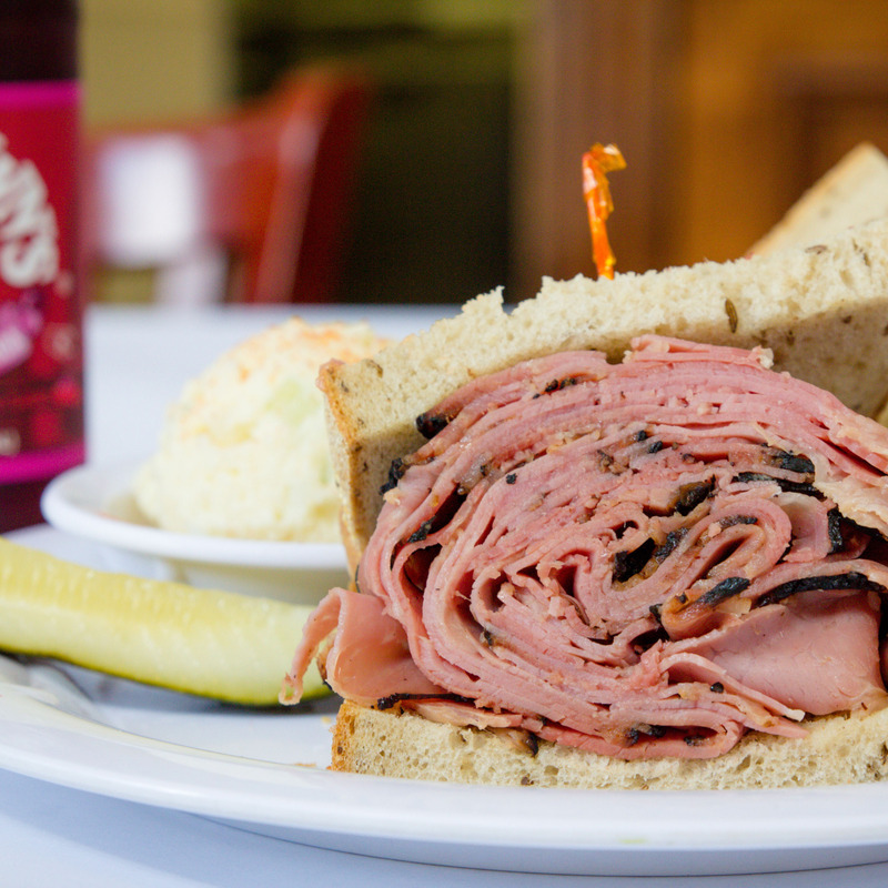 Our famous New York Pastrami Sandwich