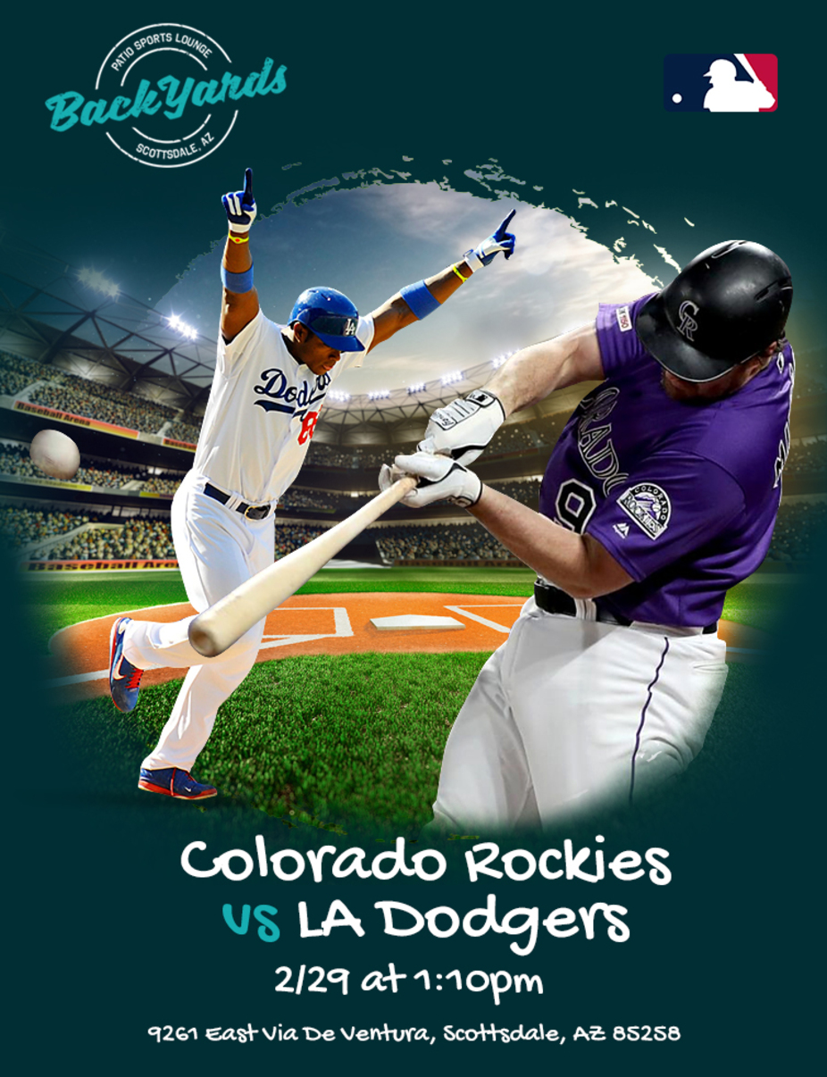 Rockies vs Dodgers Saturday February 29th event photo