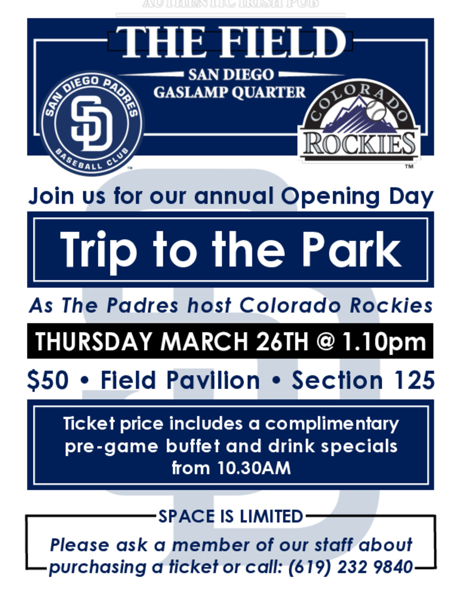 Padres 2020 Opening Day event photo