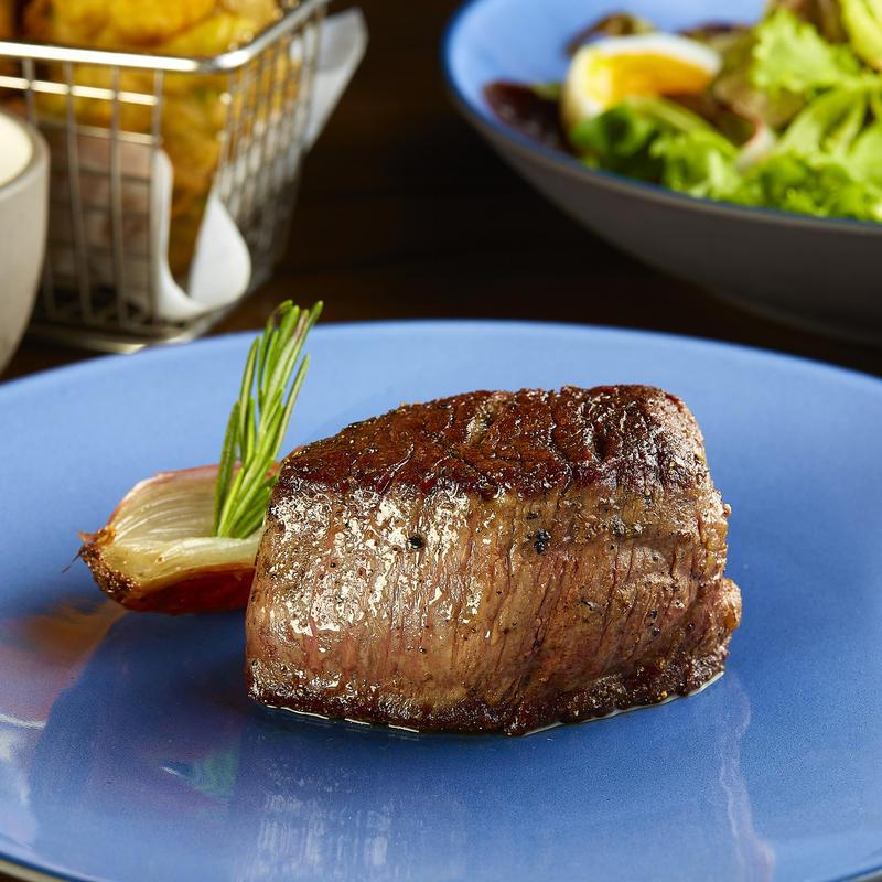 Grilled steak close up